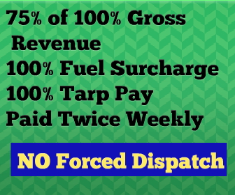 75% of Gross Linehaul to you- You Get 100% Fuel Surcharge at CRST Malone